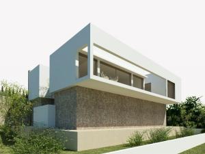 Terreno con proyecto de casa contemporánea en Font de Sa Cala
