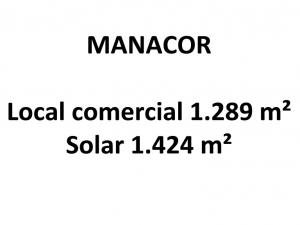Local comercial de 1289 metros en Manacor