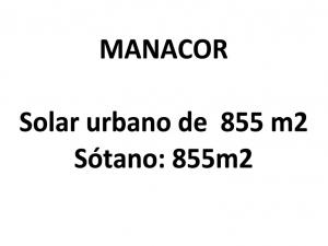 Solar de 855 metros en Manacor
