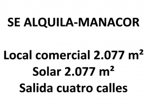 Local en Manacor de 2.077 metros