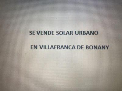Venta Solar urbano Vilafranca de Bonany